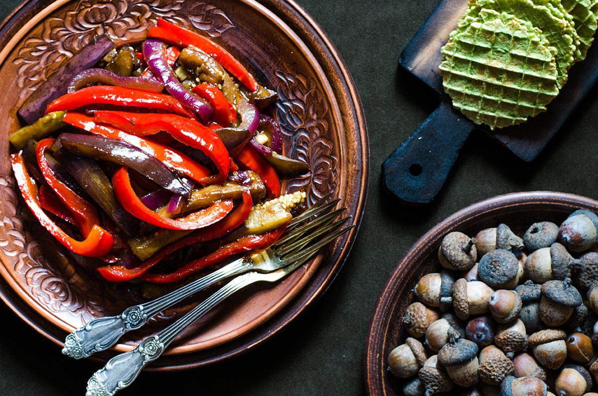 Овощи с бальзамическим уксусом