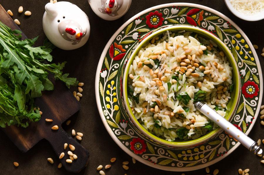 Тёплый салат с пастой орзо от Гордона Рамзи