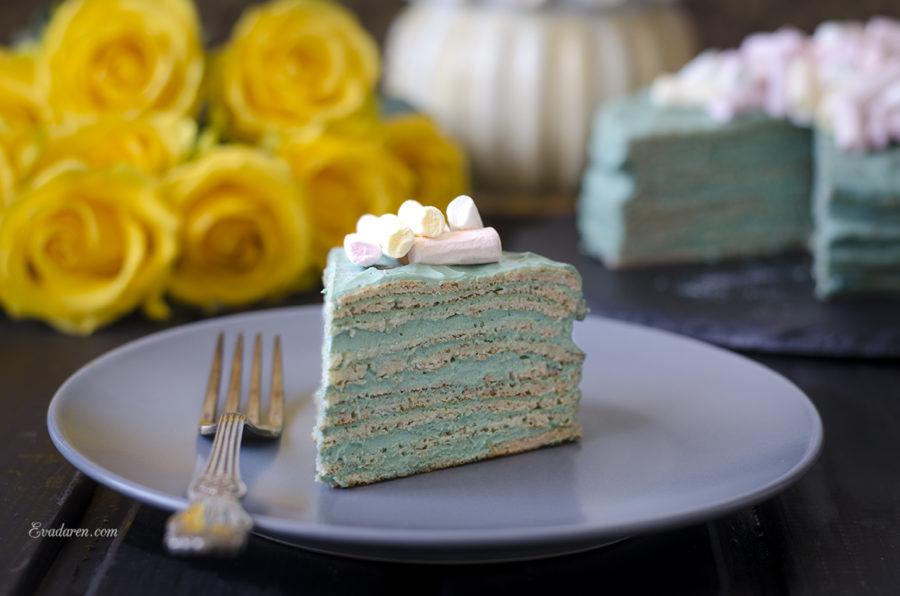 Блинный торт со спирулиной