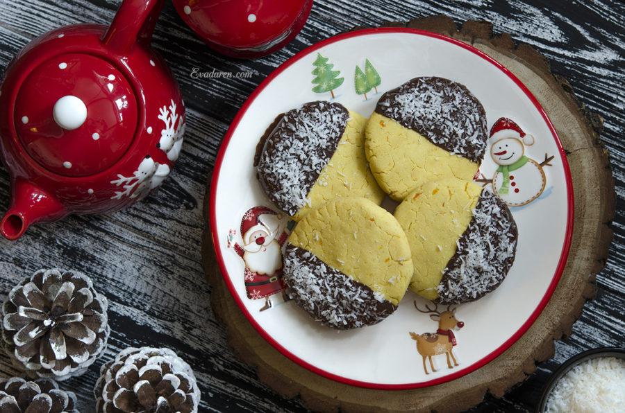 Кукурузное печенье с шоколадом и кокосовой стружкой