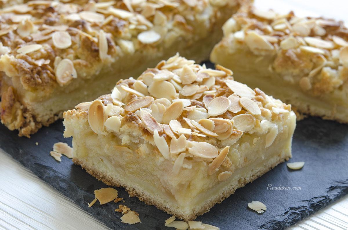 Тёртый пирог с яблочной начинкой