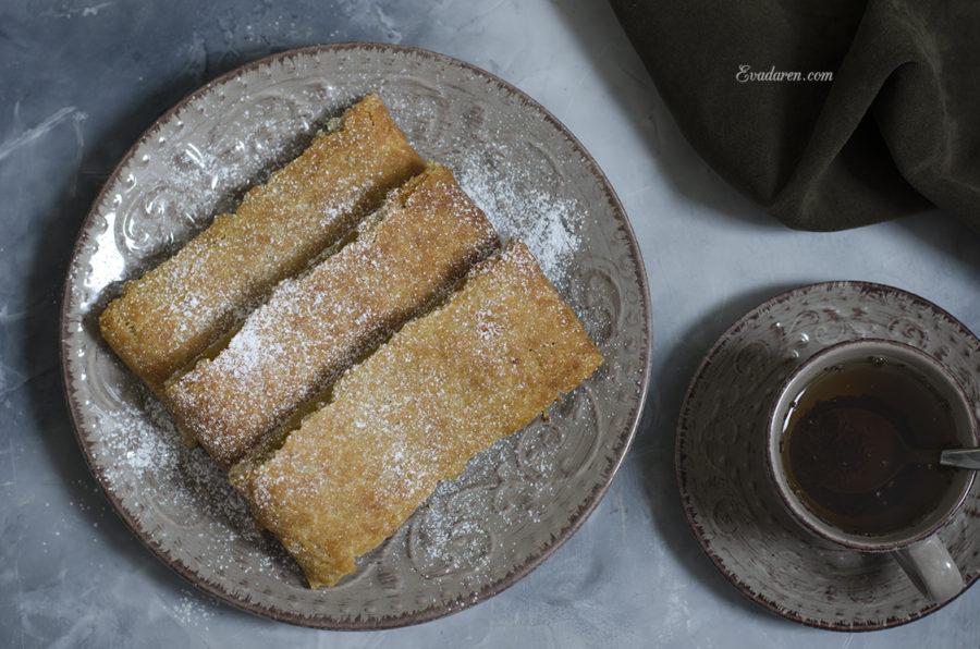 Постное песочное печенье с начинкой