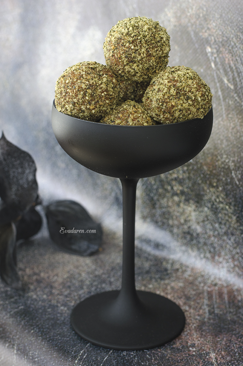 Трюфели с сухофруктами и тыквенными семечками