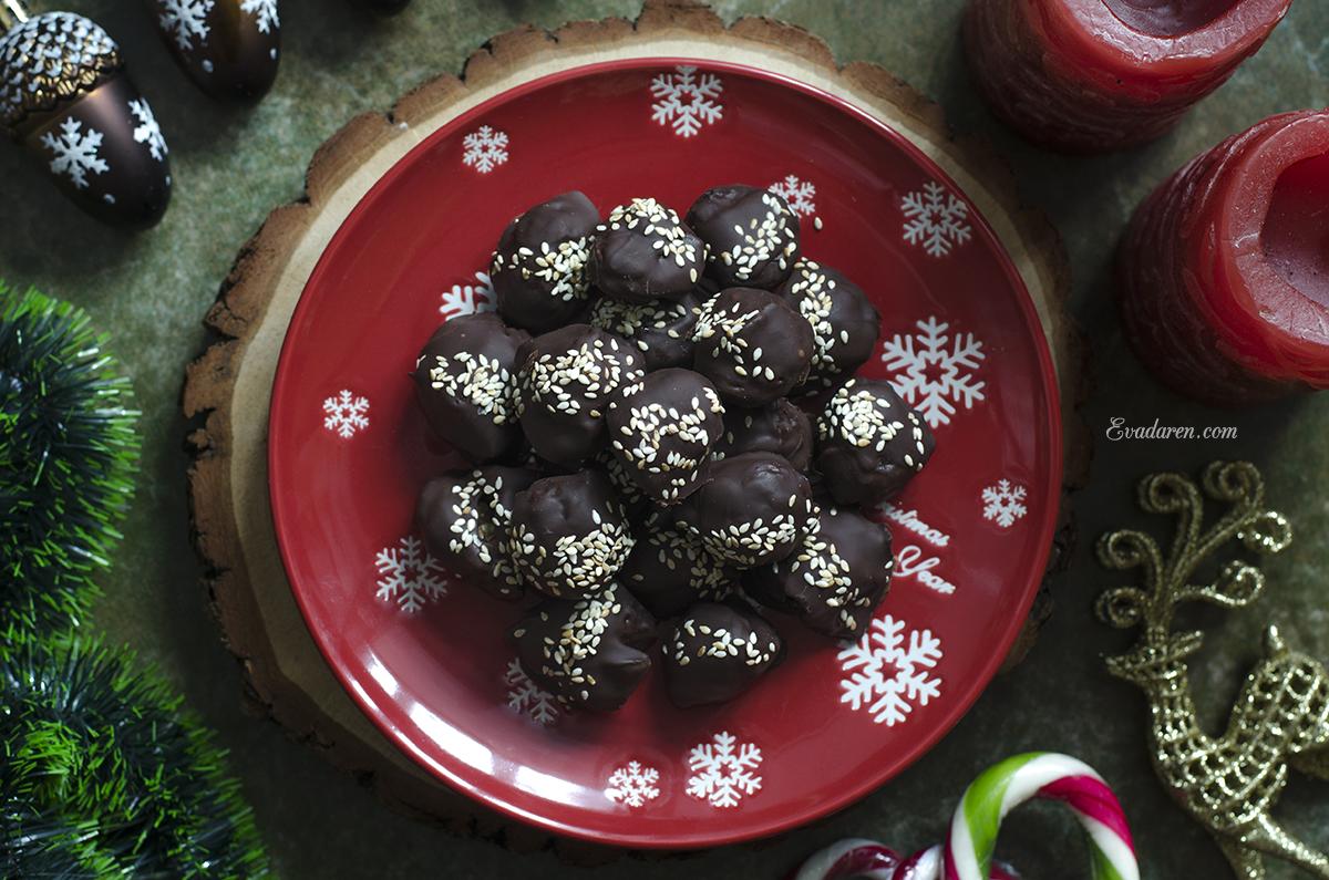 Шоколадные конфеты с черносливом и дор блю