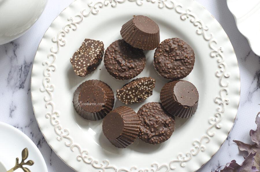 Шоколад с воздушным амарантом