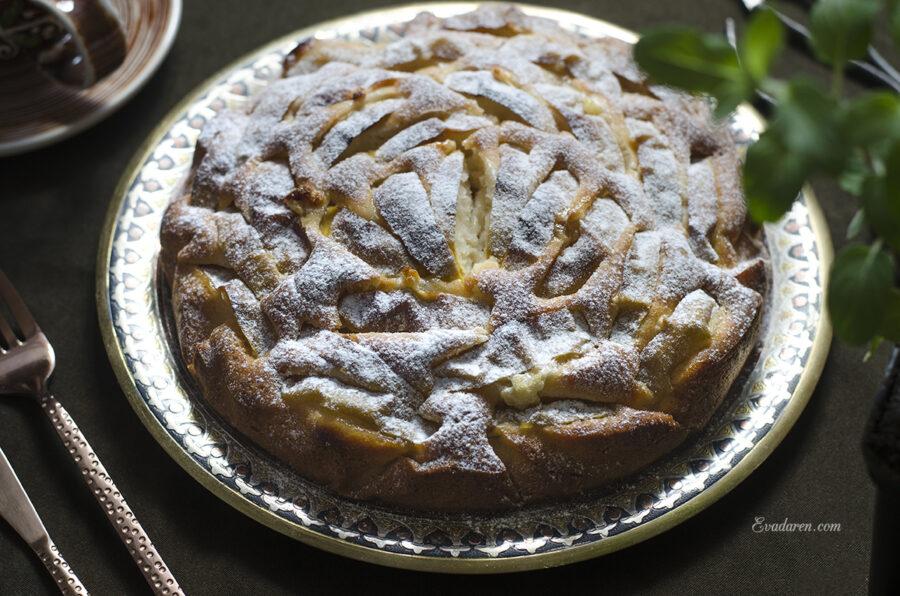 Пирог с яблоком без яиц
